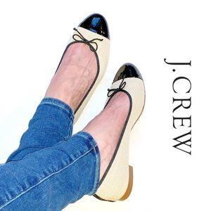 J. Crew Kiki Cap Toe Ballet Flats Size 8